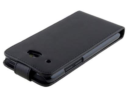 HTC Desire 601 Synthetic Leather Flip Case - Classic Black