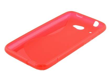HTC Desire 601 Wave Case - Frosted Red/Red