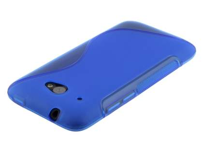 Wave Case for HTC Desire 601 - Frosted Blue/Blue