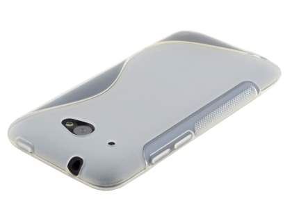 HTC Desire 601 Wave Case - Frosted Clear/Clear