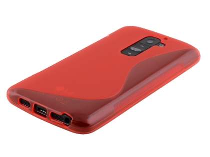 LG G2 Wave Case - Frosted Red/Red