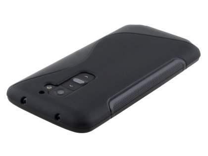 LG G2 Wave Case - Frosted Black/Black