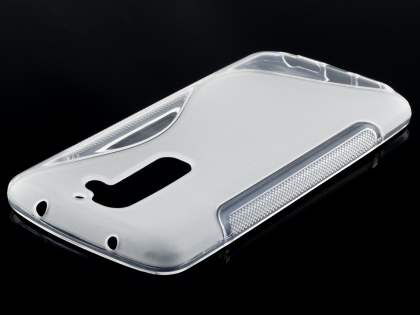 LG G2 Wave Case - Frosted Clear/Clear