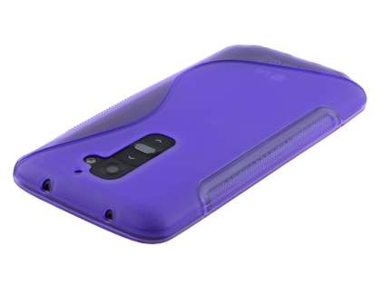 LG G2 Wave Case - Frosted Purple/Purple