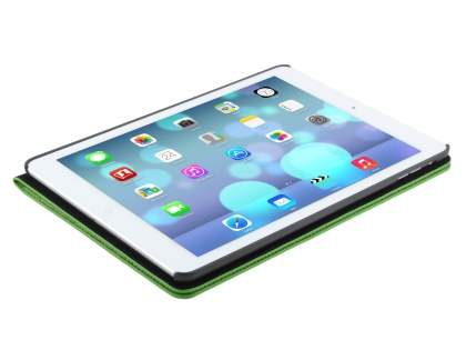 iPad Air 1st Gen Crocodile Pattern Synthetic Leather Case - Green