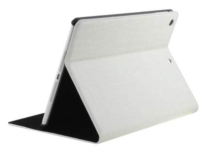 Crocodile Pattern Synthetic Leather Case for iPad Air 1st Gen - Creamy White