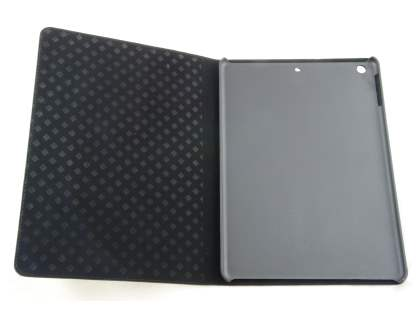 iPad Air 1st Gen Crocodile Pattern Synthetic Leather Case - Classic Black