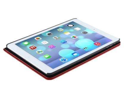 Crocodile Pattern Synthetic Leather Case for iPad Air 1st Gen - Red