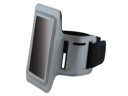 Universal Sports Arm Band for Sony Xperia S LT26i - Light Grey