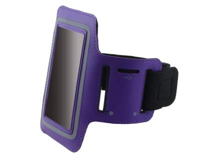 Universal Sports Arm Band for HTC One Mini M4 - Purple