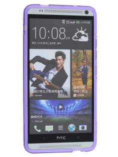 HTC One Max Wave Case - Frosted Purple/Purple