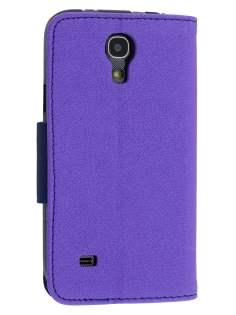 Mercury Colour Fancy Diary Case with Stand for Samsung Galaxy S4 Mini - Purple/Navy