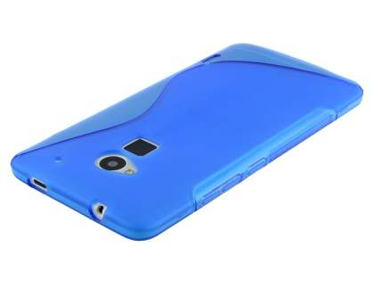 HTC One Max Wave Case - Frosted Blue/Blue