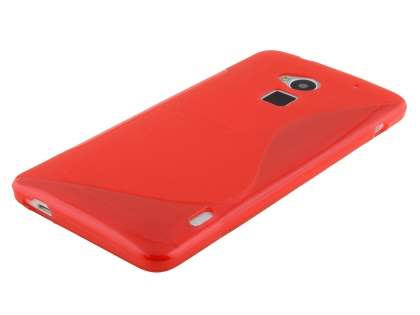 Wave Case for HTC One Max - Frosted Red/Red