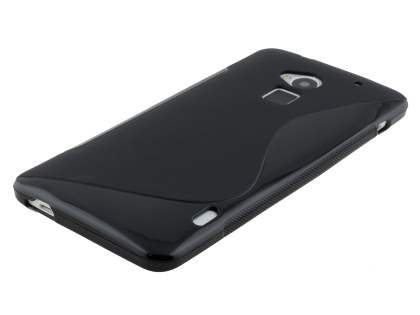 HTC One Max Wave Case - Frosted Black/Black