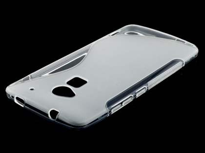 HTC One Max Wave Case - Frosted Clear/Clear