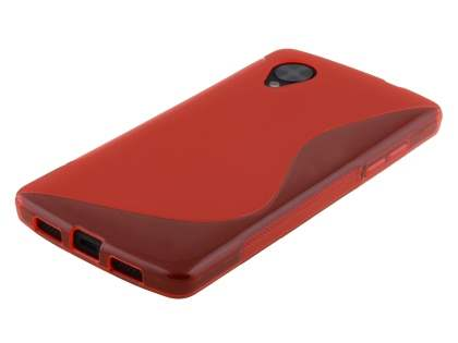 Wave Case for LG Google Nexus 5 - Frosted Red/Red