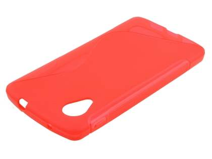 LG Google Nexus 5 Wave Case - Frosted Red/Red