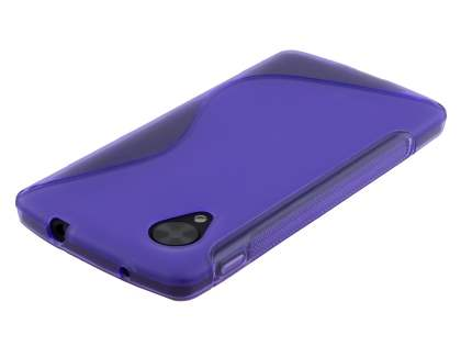 LG Google Nexus 5 Wave Case - Frosted Purple/Purple
