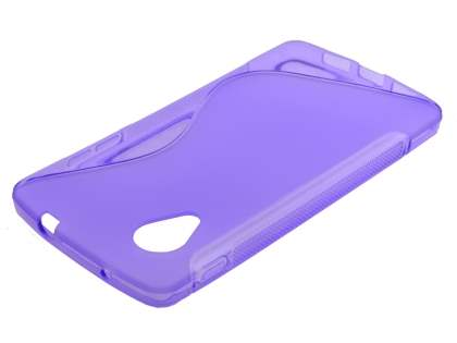 Wave Case for LG Google Nexus 5 - Frosted Purple/Purple
