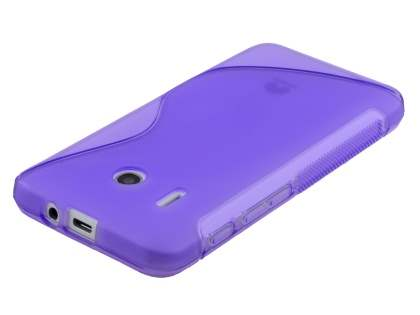 Huawei Ascend Y320 Wave Case - Frosted Purple/Purple