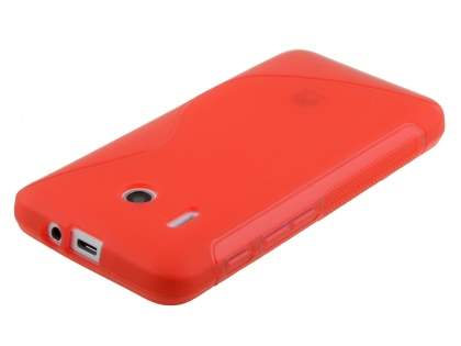 Wave Case for Huawei Ascend Y320 - Frosted Red/Red