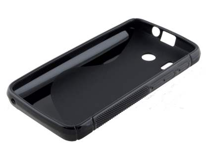 Wave Case for Huawei Ascend Y320 - Frosted Black/Black