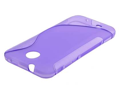 Wave Case for HTC Desire 300 - Frosted Purple/Purple