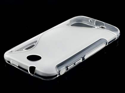 Wave Case for HTC Desire 300 - Frosted Clear/Clear