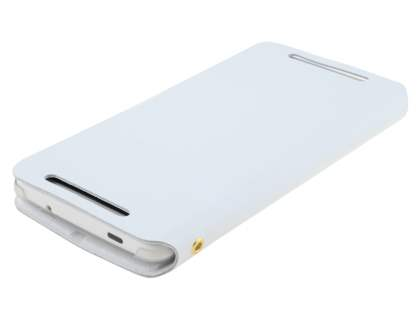 HTC One Max Slim Genuine Leather Portfolio Case - Pearl White