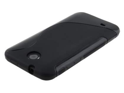 HTC Desire 300 Wave Case - Frosted Black/Black