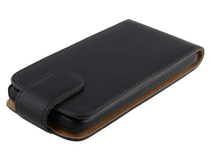 HTC Desire 300 Synthetic Leather Flip Case - Black