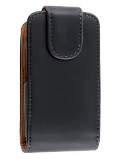 Synthetic Leather Flip Case for Samsung Champ Neo Duos C3262 - Black Leather Flip Case