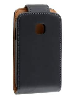 Samsung Champ Neo Duos C3262 Synthetic Leather Flip Case - Black