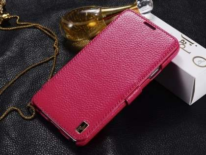 k-cool Slim Genuine Leather Wallet Case for  Samsung Galaxy Note 3 - Pink Leather Wallet Case