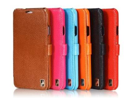 k-cool Samsung Galaxy Note 3 Slim Genuine Leather Wallet Case - Pink