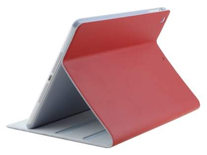 Premium Genuine Leather Slim Portfolio Case with Stand for iPad Air 1st Gen - Red Leather Flip Case