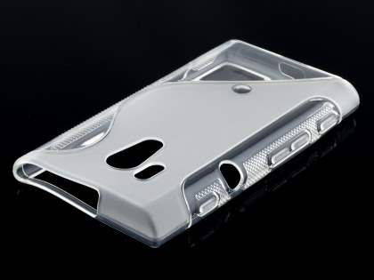 Sony Xperia acro S LT26w Wave Case - Frosted Clear/Clear