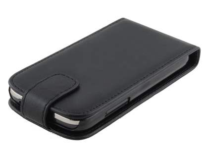 Synthetic Leather Flip Case for Samsung Galaxy Ace 3 - Classic Black