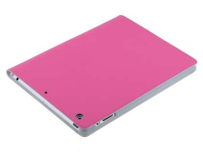 Premium Genuine Leather Slim Portfolio Case with Stand for iPad Air 1st Gen - Pink