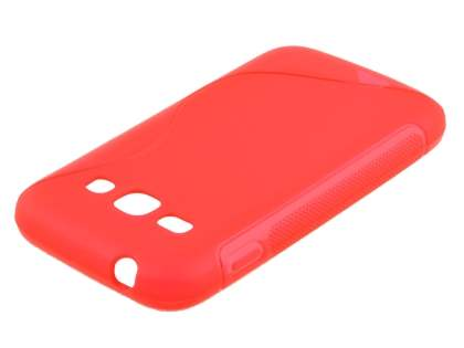 Samsung Galaxy Ace 3 Wave Case - Frosted Red/Red