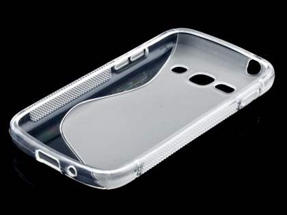 Samsung Galaxy Ace 3 Wave Case - Frosted Clear/Clear