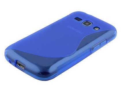 Wave Case for Samsung Galaxy Ace 3 - Frosted Blue/Blue