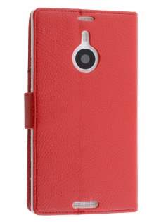 Synthetic Leather Wallet Case with Stand for Nokia Lumia 1520 - Red Leather Wallet Case