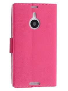 Synthetic Leather Wallet Case with Stand for Nokia Lumia 1520 - Pink Leather Wallet Case