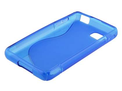 LG Optimus F3 Wave Case - Frosted Blue/Blue