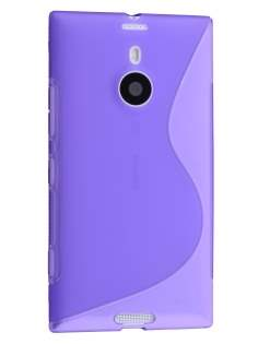 Wave Case for Nokia Lumia 1520 - Frosted Purple/Purple Soft Cover