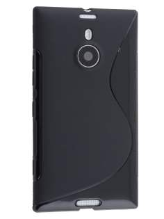 Wave Case for Nokia Lumia 1520 - Frosted Black/Black Soft Cover