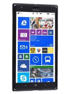 Nokia Lumia 1520 Wave Case - Frosted Black/Black