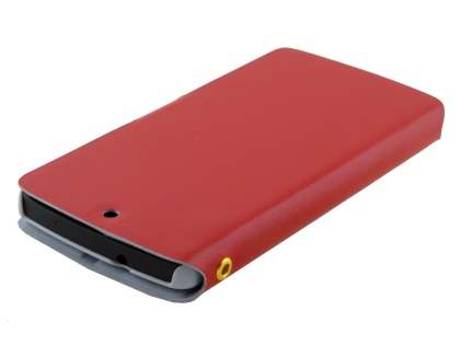 LG Google Nexus 5 Slim Genuine Leather Portfolio Case - Red